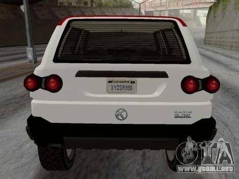 Karin BJ XL para la visión correcta GTA San Andreas