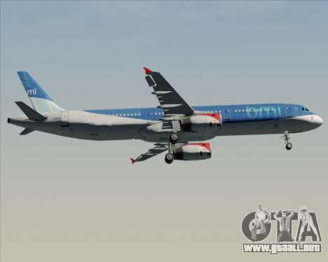 Airbus A321-200 British Midland International para visión interna GTA San Andreas