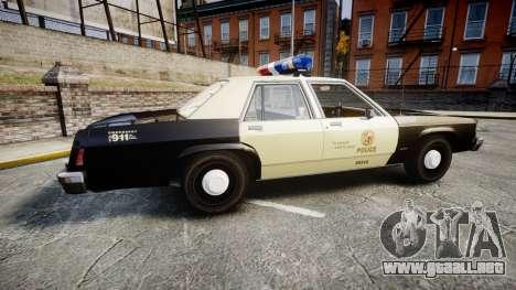 Ford LTD Crown Victoria 1987 LAPD [ELS] para GTA 4 left