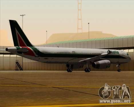 Airbus A321-200 Alitalia para vista inferior GTA San Andreas