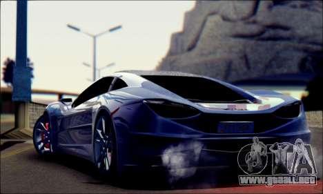 Shimmy Python 2012 para GTA San Andreas left