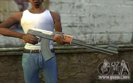 AK47 from Beta Version para GTA San Andreas tercera pantalla