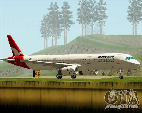 Airbus A321-200 Qantas para la visión correcta GTA San Andreas