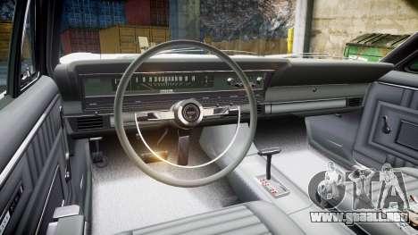 Ford Fairlane 500 1966 para GTA 4 vista hacia atrás