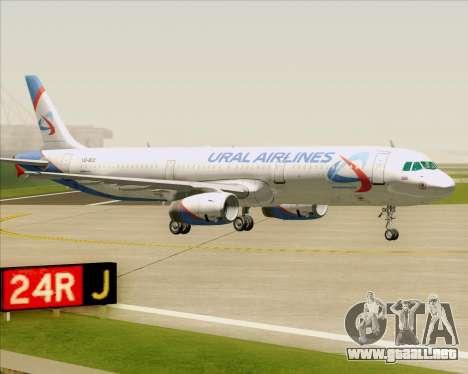 Airbus A321-200 Ural Airlines para vista inferior GTA San Andreas