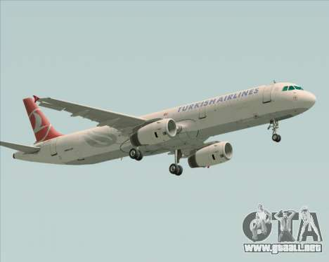 Airbus A321-200 Turkish Airlines para GTA San Andreas left