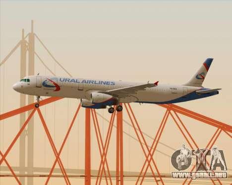 Airbus A321-200 Ural Airlines para la vista superior GTA San Andreas