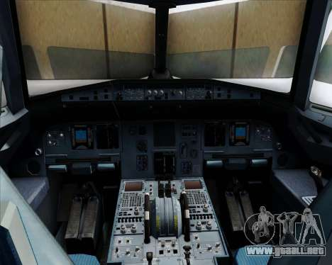 Airbus A320-232 United Airlines para GTA San Andreas interior