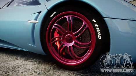 Pagani Huayra 2013 [RIV] para GTA 4 vista hacia atrás