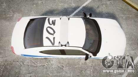 Dodge Charger 2010 PS Police [ELS] para GTA 4 visión correcta