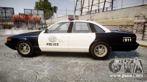 Vapid Police Cruiser GTA V LED [ELS] para GTA 4 left