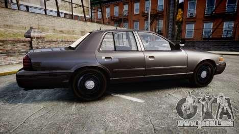 Ford Crown Victoria LASD [ELS] Unmarked para GTA 4 left