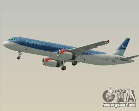 Airbus A321-200 British Midland International para las ruedas de GTA San Andreas