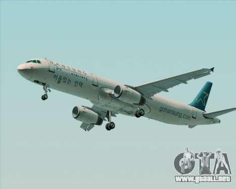 Airbus A321-200 Hansung Airlines para el motor de GTA San Andreas