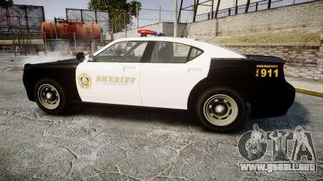 GTA V Bravado Buffalo LS Sheriff Black [ELS] para GTA 4 left