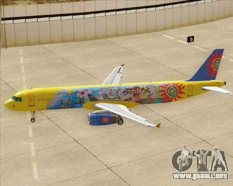 Airbus A321-200 para las ruedas de GTA San Andreas