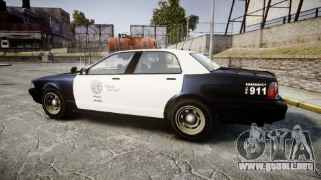 GTA V Vapid Cruiser LSP [ELS] Slicktop para GTA 4 left