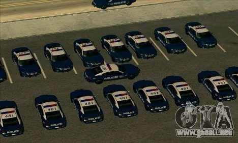 FCPD Dodge Charger SRT8 para GTA San Andreas vista posterior izquierda