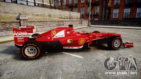 Ferrari F138 v2.0 [RIV] Alonso THD para GTA 4 left