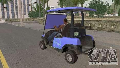 Caddy from GTA 5 para GTA San Andreas left