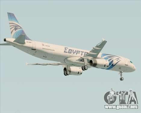 Airbus A321-200 EgyptAir para GTA San Andreas vista hacia atrás