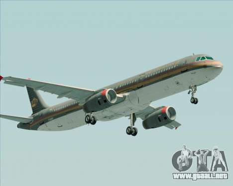 Airbus A321-200 Royal Jordanian Airlines para GTA San Andreas left