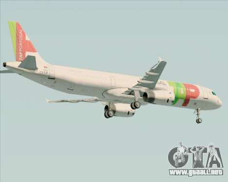 Airbus A321-200 TAP Portugal para la visión correcta GTA San Andreas