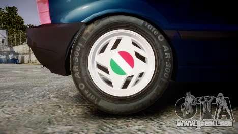 Fiat Uno para GTA 4 vista hacia atrás