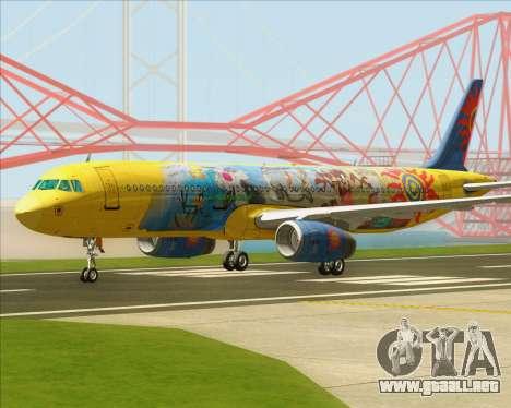 Airbus A321-200 para GTA San Andreas left