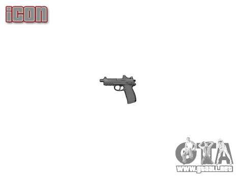 Pistola de FNP-45 para GTA 4 tercera pantalla