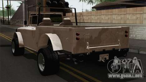 Canis Bodhi V1.0 Army para GTA San Andreas left
