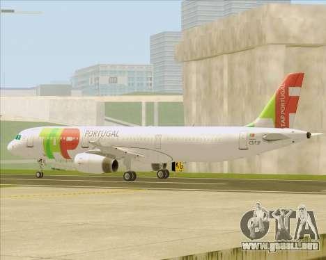 Airbus A321-200 TAP Portugal para vista inferior GTA San Andreas