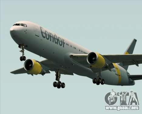 Boeing 767-330ER Condor para las ruedas de GTA San Andreas