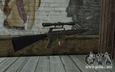 M16S from Battlefield: Vietnam para GTA San Andreas segunda pantalla