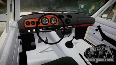 ESTAS Lada 2106 para GTA 4 vista hacia atrás