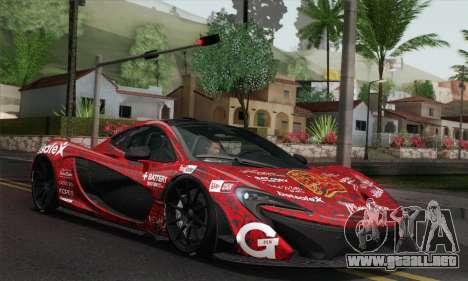 McLaren P1 HQ para vista inferior GTA San Andreas