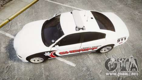 Dodge Charger RT 2013 LC Sheriff [ELS] para GTA 4 visión correcta