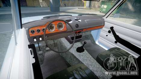 El USO de-2106 a (Lada 2106) para GTA 4 vista interior