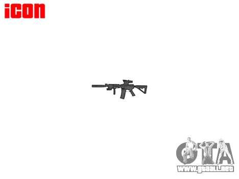 Máquina Táctico M4A1 CQB para GTA 4 tercera pantalla
