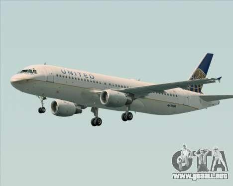 Airbus A320-232 United Airlines para las ruedas de GTA San Andreas