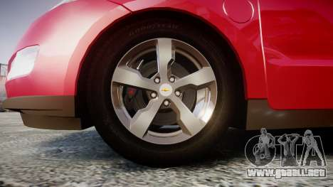 Chevrolet Volt 2011 v1.01 rims1 para GTA 4 vista hacia atrás