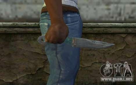 Knife from Metro 2033 para GTA San Andreas tercera pantalla
