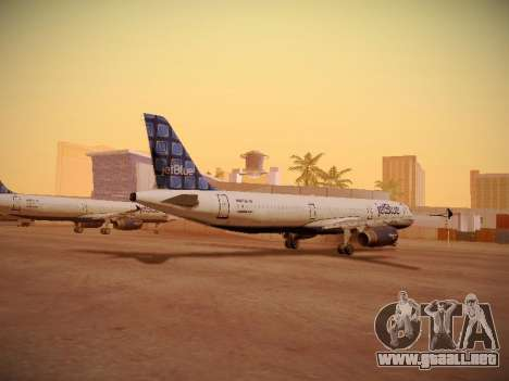 Airbus A321-232 jetBlue Blue Kid in the Town para GTA San Andreas vista posterior izquierda