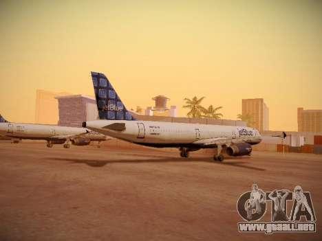 Airbus A321-232 jetBlue Blue Kid in the Town para GTA San Andreas vista posterior izquierda