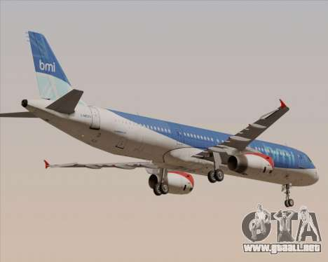 Airbus A321-200 British Midland International para la vista superior GTA San Andreas