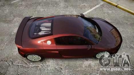 Audi R8 2010 Rotiform BLQ para GTA 4 visión correcta