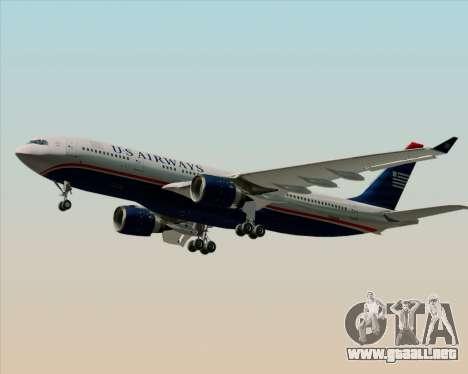 Airbus A330-200 US Airways para GTA San Andreas vista posterior izquierda