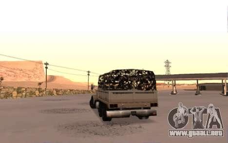 Cuartel con cuatro puertas para GTA San Andreas vista posterior izquierda
