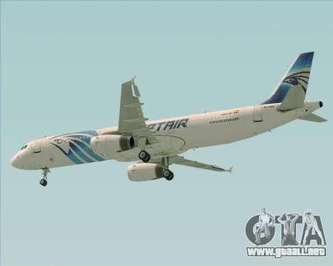 Airbus A321-200 EgyptAir para vista inferior GTA San Andreas