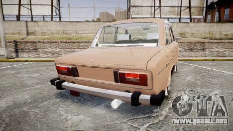 VAZ-2106 hooligan estilo de azerbaiyán para GTA 4 Vista posterior izquierda